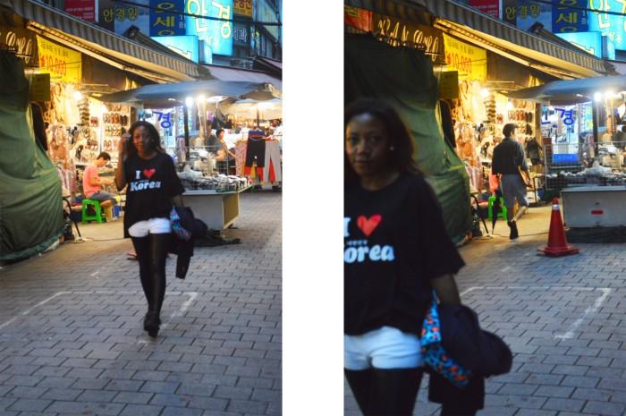Namdaemun Market, Seoul, jeans with leather