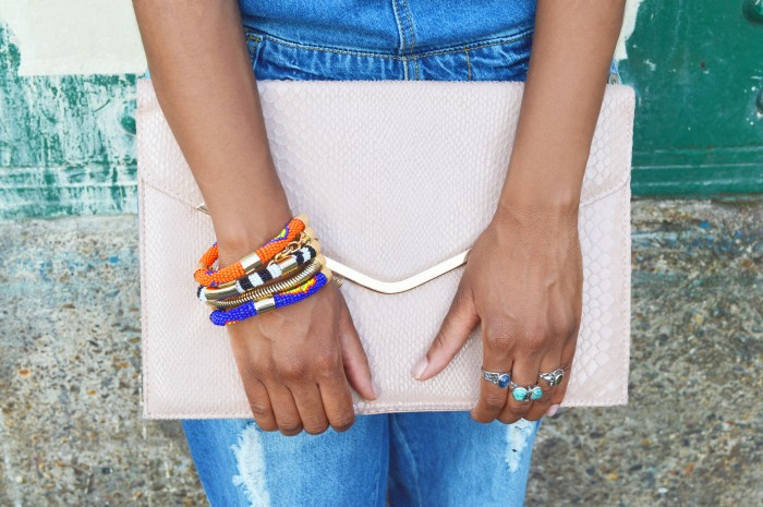 bcbg tribal bracelet, primark pastel clutch