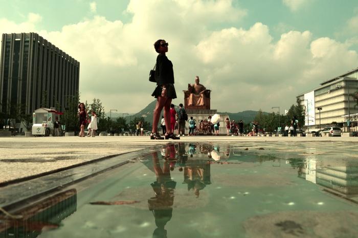 Seoul, PVC skirt