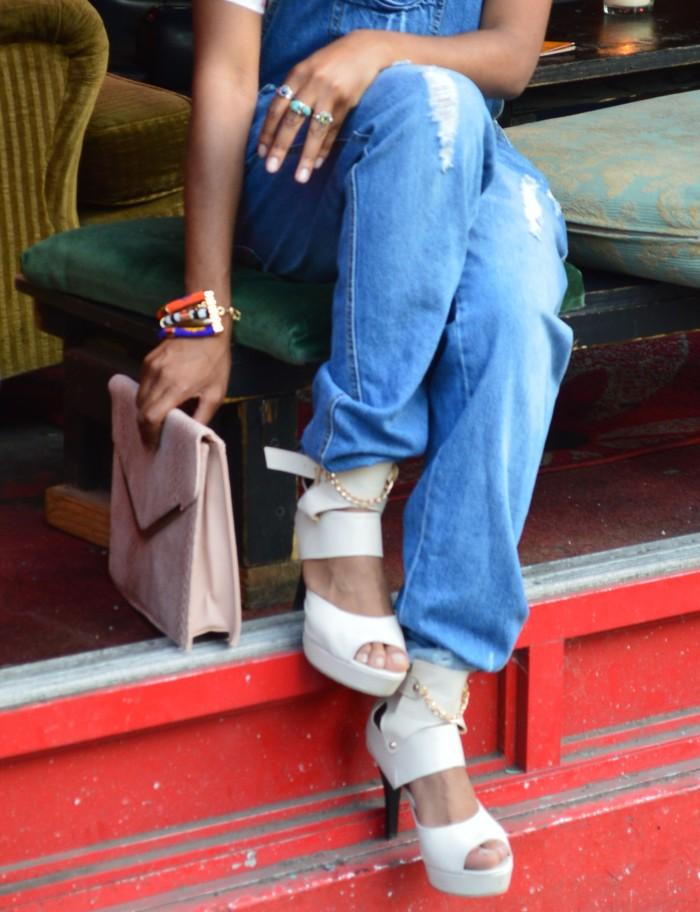 Ankle strap peep toe heels
