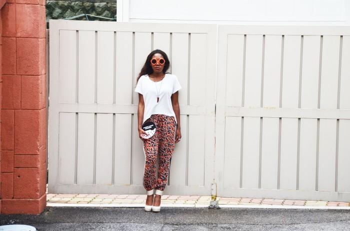 leopard print trousers, seoul, bukchon, korea