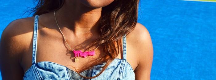 Tatty Devine name necklace