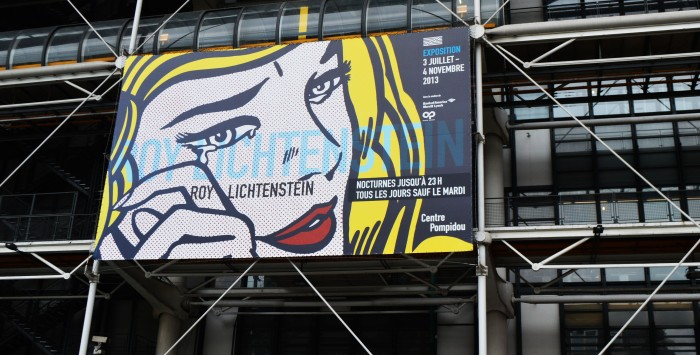 Roy Lichtenstein Centre Pompidou Paris