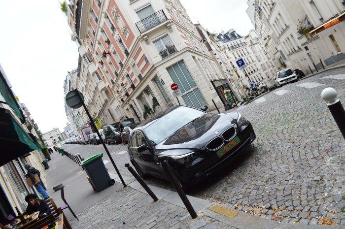 Paris Montmartre cobbled street
