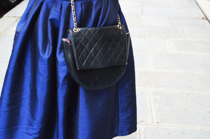 Topsop sequin top, Vintage Chanel bag, Paris