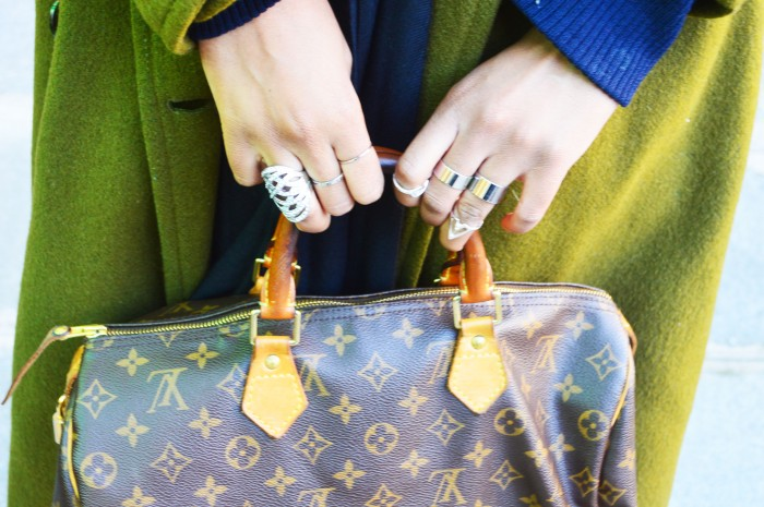 primark midi rings, bana republic ring, louis vuitton speedy bag