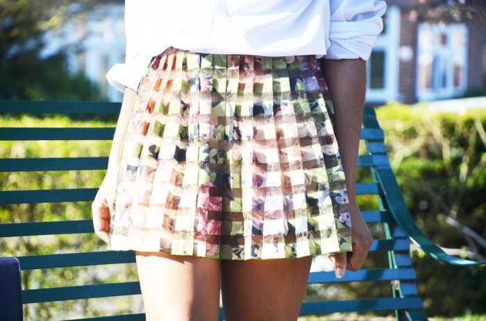 Zara pleated floral skirt, spring 2014 trend